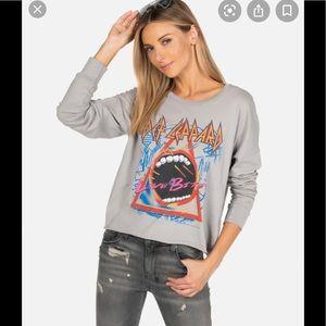 Lauren Moshi Def Leppard Love Bites Gray size XS